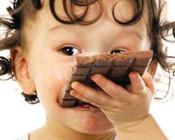 Шоколад в питании ребенка
