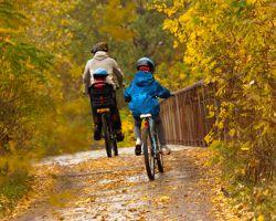 Велосипедная прогулка с малышом