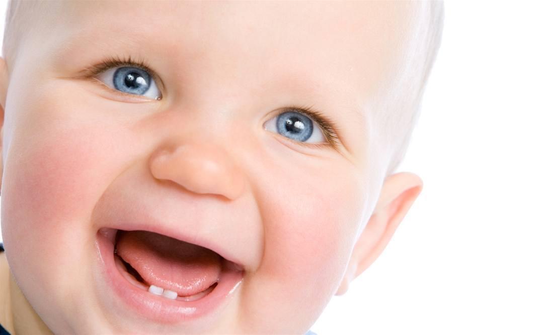 Ребёнок, Зубы, Прорезание, Счастливый, Маленький